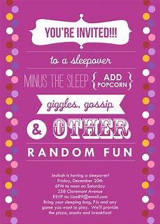How To Make A Sleepover Invitation Sleepover Invitations Sleepover Invitations Sleepover