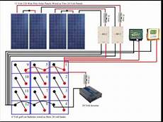 diy solar panel system wiring diagram from youtube youtube
