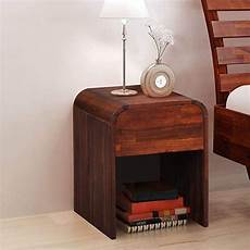 festnight bedside nightstand with a drawer acacia wood end