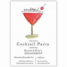 Cocktail Party Invitation Red Watercolor Cocktail Party Invitations Paperstyle