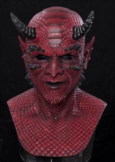 Demon Mask Designs Belial The Demon Red Silicone Halloween Mask Halloween