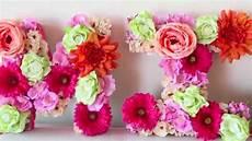 diy letras decoradas con flores