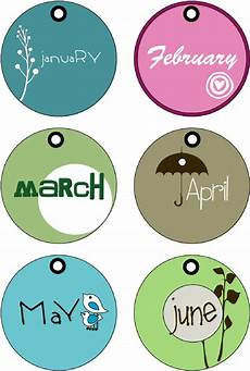 Printable Month Months Of The Year Tags Printable Months In A Year