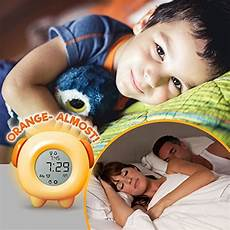 stay in bed light alarm clock teaches child when