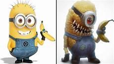personagens de desenhos como se fossem monstros