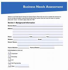 Company Assessment Template Free 8 Needs Assessment Samples In Pdf Ms Word