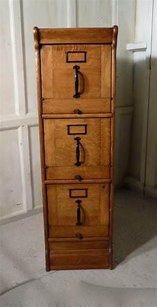 large deco 3 drawer oak filing cabinet 326287