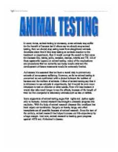 Animal Testing Essays Animal Testing Essays Cruelty Free International
