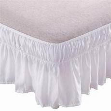 bed skirt 14 inch drop wrap around ruffled