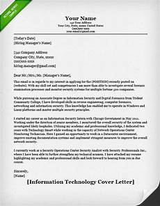 Information Technology Cover Letters Information Technology It Cover Letter Resume Genius