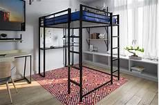 dhp loft bed metal frame size w desk ladder black