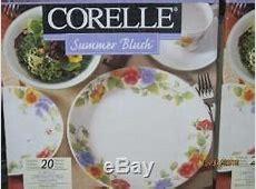 New Corelle Summer Blush 40 Pc Dinnerware Set Multi