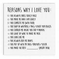 Reasons Why I Love You Reasons Why I Love You Mother S Day Cute Cheeky