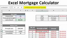 How To Calculate Mortgage Payment In Excel Excel Mortgage Calculator How To Calculate Loan Payments