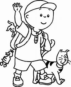 caillou iron on transfer caillou coloring page