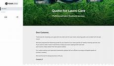 Lawn Care Quotes Free Lawn Care Quote Template Better Proposals
