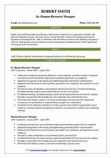 Human Resources Manager Resume Examples Human Resource Manager Resume Samples Qwikresume