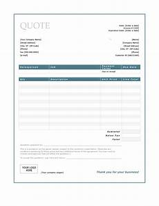 Free Quote Templates 47 Professional Quote Templates 100 Free Download ᐅ