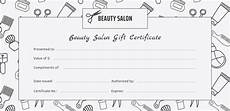 Hair Salon Gift Certificate Template Free Salon Gift Certificate Template 9 Free Pdf Psd Ai