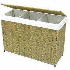 clothes 3 section shop america basket company woven seagrass lined 3 section