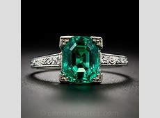 2.44 Carat Natural (No Enhancements) Emerald Ring