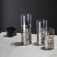 Fairy Lights In Glass Cylinder Hurricane Glass Cylinder Lanterns With Fairy Lights