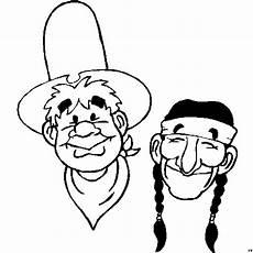 indianer und cowboy freunde ausmalbild malvorlage comics