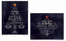 Office Christmas Party Flyer Templates Office Holiday Party Flyer Amp Ad Template Design