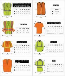 Vest Size Chart Hi Vis Size Chart R Amp R Industries Inc