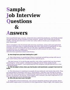 Sample Interviews Questions And Answers Interview Questions And Answers Ipasphoto