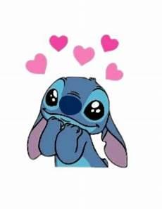 hearts crown blue pink stitch liloandstitch