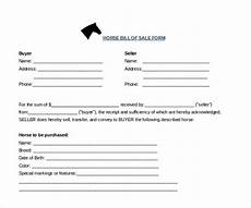 Horse Bill Of Sale Free 7 Sample Horse Bill Of Sale Forms In Pdf Ms Word