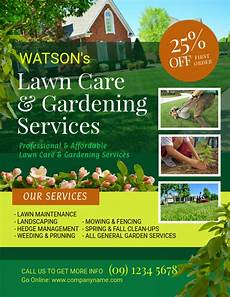 Landscaping Flyer Design Copy Of Lawn And Landscaping Flyer Template Postermywall