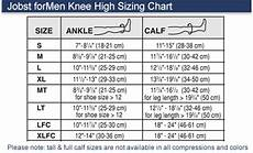 Jobst Compression Measuring Chart Jobst For Men 15 20 Mmhg Moderate Support Closed Toe Knee