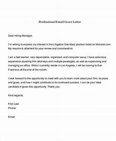 Cover Letter Email Template Free 21 Email Cover Letter Examples In Pdf Doc Examples