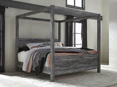 baystorm gray king canopy bed from coleman furniture