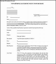 Non Binding Letter Of Intent Non Binding Letter Of Intent To Purchase Free Pdf Sample