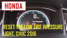 Reset Tire Pressure Light Honda Civic Reset The Low Tire Pressure Light Honda Civic 2016 Youtube