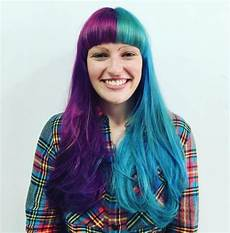 Half Pink Half Blue 20 Two Tone Hair Styles