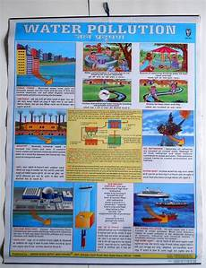 How To Make Chart On Pollution India Vintage School Chart Poster Print Water Pollution