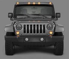 Jeep Overhead Light Bar J5 Led Light Bar Kit With 6 Bolt Style Windshield Mounting
