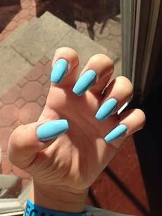 Light Blue Nails Coffin Light Blue Coffin Nails Stiletto Nails Blue Coffin