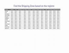 Fedex Zone Chart Fedex India Shipping Zones Based On Regions