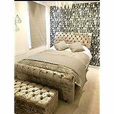 mm08enn new luxury sleigh bed frame with matching ottoman