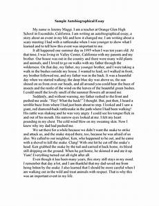 Autobiography Essay Example For College 40 Autobiography Examples Autobiographical Essay