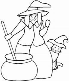 Malvorlagen Hexen Hexe Ruehrt Im Kessel Ausmalbild Malvorlage Hexen