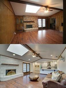 entire house before and after pictures ranch home flip