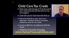 Child Tax Credit Calculator Chart Child Care Tax Credit Calculator For 2012 2013 Youtube