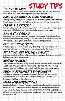College Life Tips If You Have Finals Coming Up Consider Using These Study