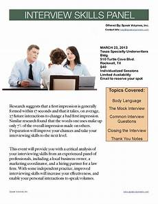 Interview Skills Local Speech Coaching Business To Host Interview Skills